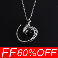[Free shipping 1 pcs] Horror movie alien pups crawlers monster necklace explosion iron soldiers