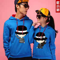 Myrmeco- 2013 lovers personality all-match autumn and winter fashionable casual with a hood sweatshirt outerwear
