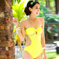 Sexy noble  one piece of triangle connected swimwear,2014 new hot spring bathing suit,fashion swimsuit,holiday beachwear