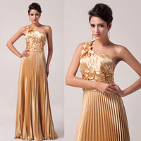 FreeShipping! 2014 New Fashion women's One Shoulder Satin Formal Evening Dress Designer Long Prom Dresses CL6033
