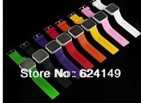 Free Shipping 50PCS Newest Girls/Boys/Men/Women LED Watch High Quality Mirror,Silicone Sports Watch, Quartz Watch