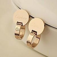 Titanium Steel Stud Earring 14k Color Gold Rose gold Earrings Anti-allergic
