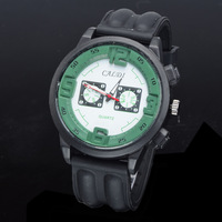 2014 New Fashion Men CALDI Sport Quartz Wristwatch High Quality Rubber Band  Watches Free Shipping