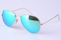 Unisex Green Mirror Lens Sunglasses Fahion Women Men Sunglasses High Quality 3025 Free Shipping