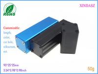 Aluminum amplifier enclosure aluminium box electronic  junction box  extruded aluminum enclosure 90*25*25mm  3.54*0.98*0.98inch