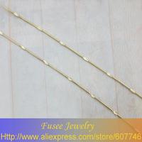 IHZ01678 Copper 18K gold plated  chain necklace 2pcs.lot