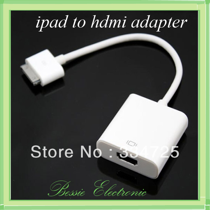 Dock Connector to HDMI Adapter Cable for iPad 3 2 1 iPhone4 4G for iPhone 4 4S for iPod Touch HDTV 1080P(China (Mainland))