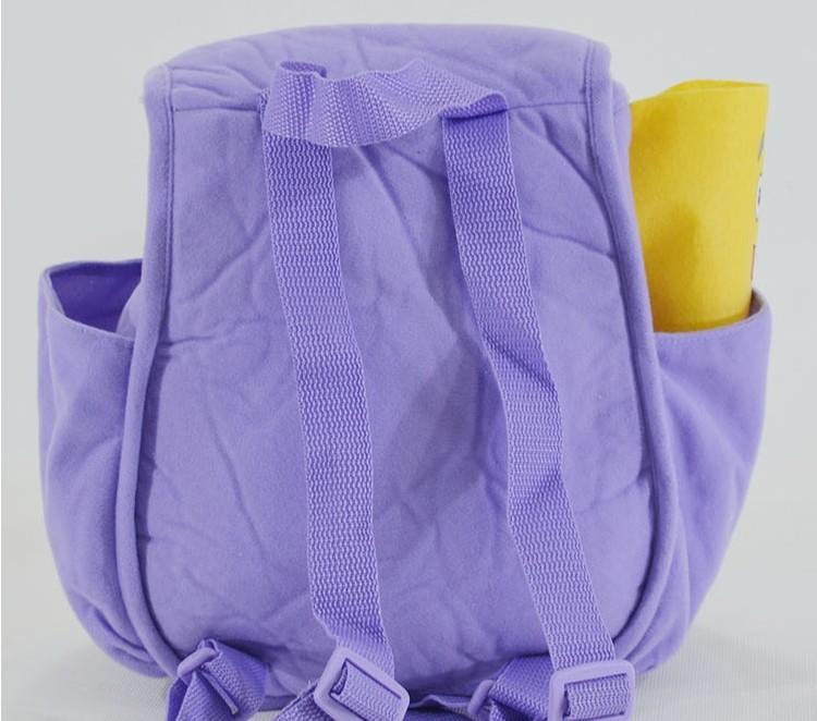 4 pçs/lote grátis frete Dora The Explorer sr . rosto Plush Backpack Shool saco roxo criança Bag atacado melhor presente # b1001(China (Mainland))