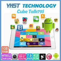 7.9 inch Original Cube U55GTS Talk 79s MTK8312 dual core Cortex A7 1.3GHz 1GB RAM 4GB ROM GSM WCDMA Bluetooth GPS FM tablet pc