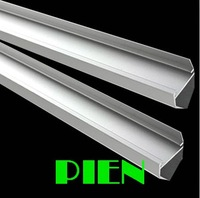 aluminum profile 1m 100cm for 5050 2825 rigid bar lamp shade V cornor channel Free Shipping by DHL 20pcs/lot