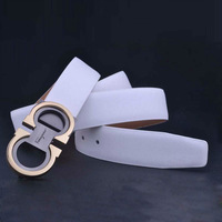 Hot Sale High Quality Alloy Smooth Buckle Second Layer Genuine Leather Men Belt Cowskin Male Belts