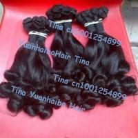 "best 6a quality 3pcs/lot #1b virgin peruvian tip curl aunty funmi human hair free shipping 8"" to 28"" mix length"