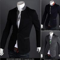 Hot Sales 2014 New Design Mens Brand Blazer Jacket Coats,Casual Slim Fit Stylish Blazers For Men,Plus Size M~XXL,3 Color