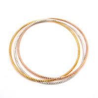 925 pure silver bracelet hand ring three-color thimbler super hot silver bracelet