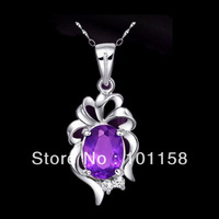 Christmas gifts, sterling silver 925,amethyst pendants ,pendants to girlfriend,SP0003A