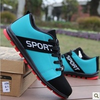 new 2014 Shoes, casual shoes, men's shoes Korean version of the low tide British fashion shoes spell color shoes size 39-44