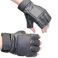 Racing Anti-collision Glove Tactical  Hunting Cycling Hiking Camping anti-skidding PU Leather Half Finger Gloves