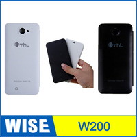 Hot selling THL W200 case,100% Original Flip Leather Protective Cover Case For THL W200 MTK6589T Smart Cell Phone Case