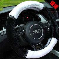 Winter plush Medium steering wheel cover luxury leopard print cover fashion 38cm slams