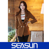 spring Wool blazer Women OL outfit blazer women's woolen outerwear autumn new arrival 2014 female