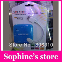 Free shipping hot sale  Card Reader Hub Combo for Samsung Galaxy Tab 3.0 type OT-3308