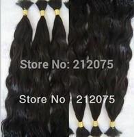 "12""-30""inches 6pieces/lot MIX length Bulk Brazilian virgin curly wavy human hair extension*"