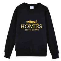 Plus Size S-XXL 2014 Men/Women Homies Gold Letter Print Sweatshirts Thicken Fleece Brand Sportswear Pullover sweatshirt tops