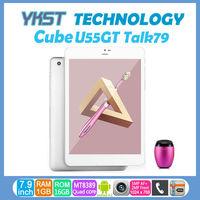 7.9 inch mini pad Cube U55GT Talk79/U55GTS Talk79s MTK8389 Quad Core 1.2GHz GPS Phone call 3G tablet pc 1G/16G