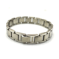 New 2014 Magnetic 316L Stainless Steel Bracelet Black Color With CZ Stone For Men 8.5'' TG278 Wholesale Jewelry Free Shipping