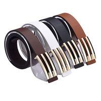 FREE SHIPPING black brown white orange color 2013 PU belt for men dropshipping z01