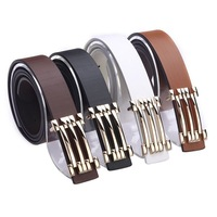 FREE SHIPPING black brown white orange color 2013  pu faux belt for men dropshipping z01