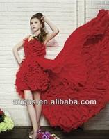 AWL3491  Red Long Back Chiffon Sexy Beach Wedding Dress