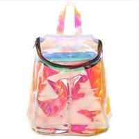 Unif HARAJUKU candy laser transparent space backpack kiko Colorful hologram silver laser backpack women shoulder bag