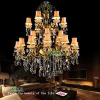 2014 European Bronze Chandelier Light Large Crystal Chandelier Project Lighting MD8504 L24