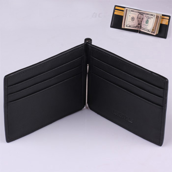 2014 Genuine Leather Slim Money Clip For Men With Card Holes Bill Clips New Designer Black Men Wallets MT-MC-