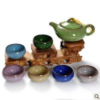 Calvings glaze tea set ceramic purple kung fu tea teapot cup