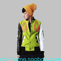 free shipping 2014 fashion candy color jacket  mens baseball shirt