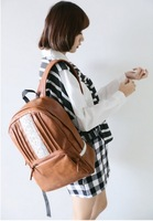 New Arrival 2014 PU  Vintage Casual women Backpack schoolbag Sweet lace shoulder bag backpack school  for girls 3 color 55153