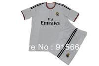 Ronaldo Real Madrid Jersey 13/14 White 2014 Home Real Madrid #7 Ronaldo Soccer Uniforms Kits[Shirts&Shorts,Free Shipping]
