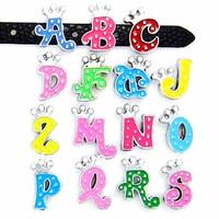 "8MM Crown slide letters ""A-N"" (10 pieces/lot) Slide Charms Fit DIY Wristband & Bracelet"