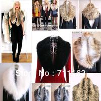 Wholesale ! Womens Fashion Luxury Trendy Faux fake fur shrugs Cool Scraf Wrap collars Sale!!  10pcs / lot