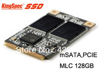 Free Shipping KingSpec brand 128GB SSD/Solid State Drive CHA-mSATA.6i-M128 of mini PCIE mSATA port for ThinkPad
