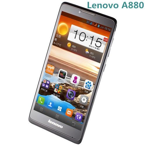 Originale telefono lenovo a880 telefoni cellulari 3g 6,0 pollici 960x540px mtk6582 quad core 1gb 8gb Android 4.2 5.0 mp