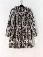 Winter Color Decoration Faux  Rabbit Fur Coat