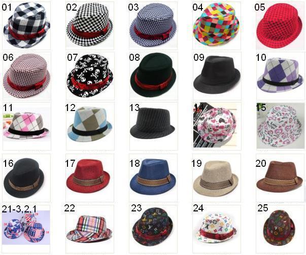 Retail Plaid Boys Fedoras baby cap dicer top fedora hat 2-8years 1pcs/lot(China (Mainland))