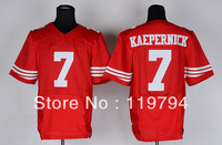 Free Shipping Cheap Wholesale Authentic Elite American Football Jerseys #7 Colin Kaepernick Jersey Embroidery Logo Mixed Order