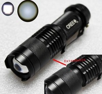 Mini LED aluminum flashLight 7W 300LM CREE Q5 LED Focus Zoomable extendable Torch for camping Hiking cycling hunting