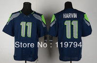 Free Shipping Cheap Wholesale Authentic Elite American Football Jerseys #11 Percy Harvin Jersey Embroidery Logo Mixed Order