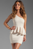 Free shipping + Lowest price New One-shoulder Double-layer Dress LC2729- dress women