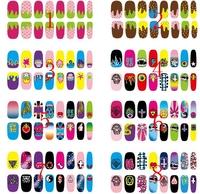 fashion Japanese Harajuku finger nail art Stickers & Decals, Color randomly send 12 pcs/lot